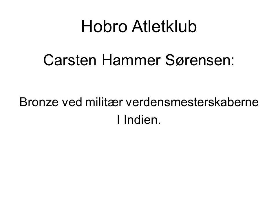 Hobro Atletklub Carsten Hammer Sørensen: