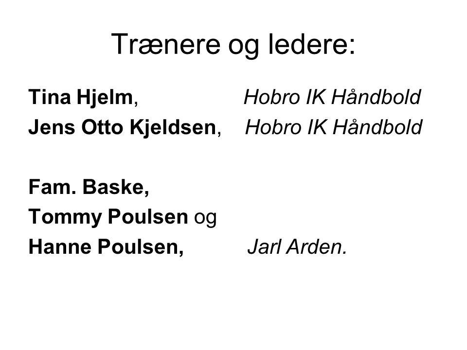 Trænere og ledere: Tina Hjelm, Hobro IK Håndbold