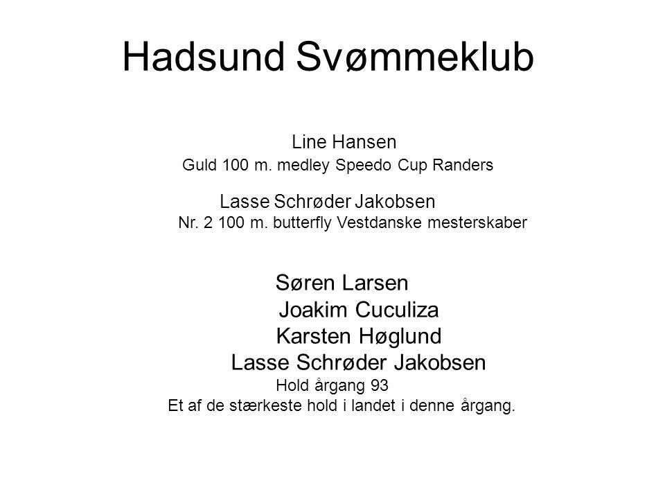 Hadsund Svømmeklub Søren Larsen Joakim Cuculiza Karsten Høglund