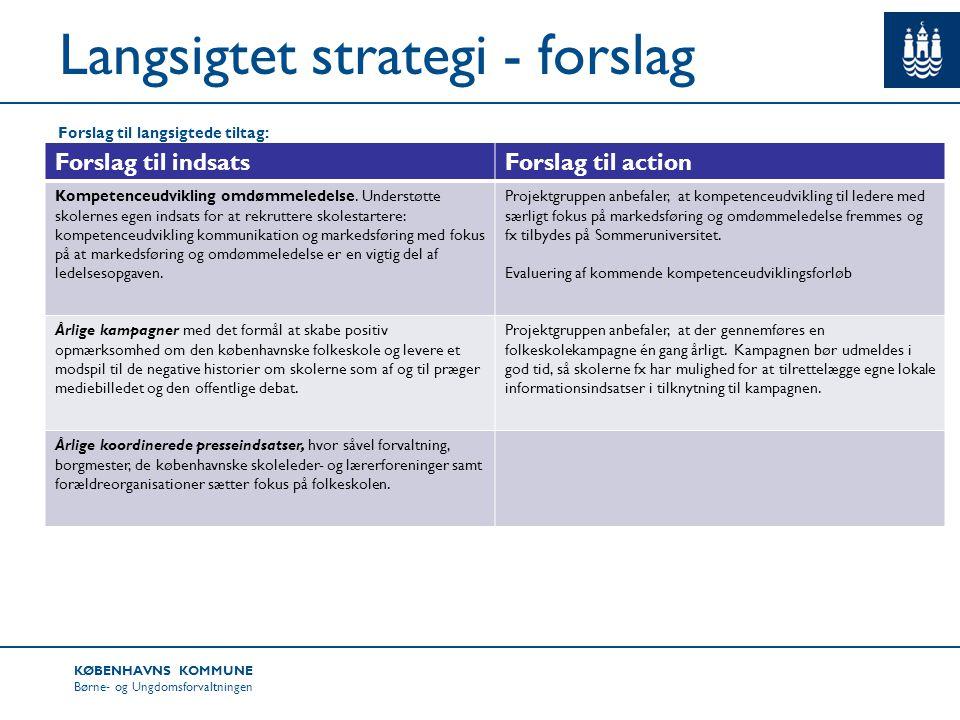 Langsigtet strategi - forslag