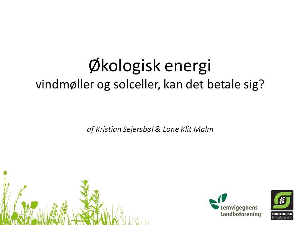 Økologisk energi vindmøller og solceller, kan det betale sig