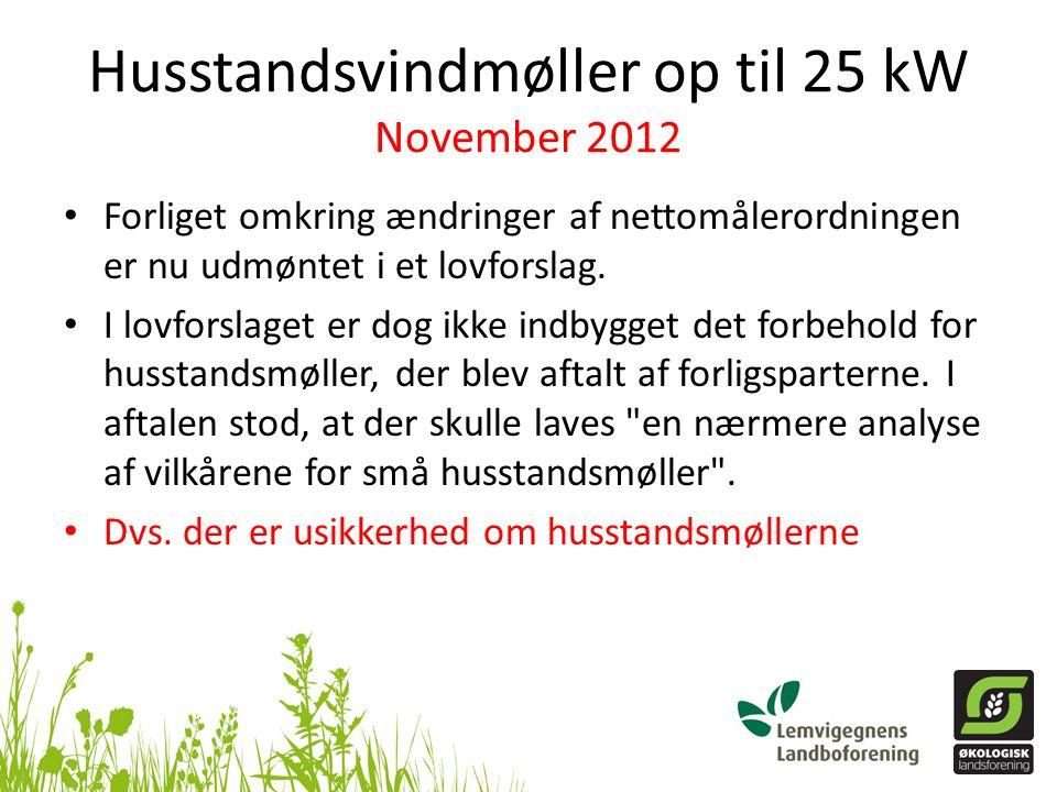 Husstandsvindmøller op til 25 kW November 2012
