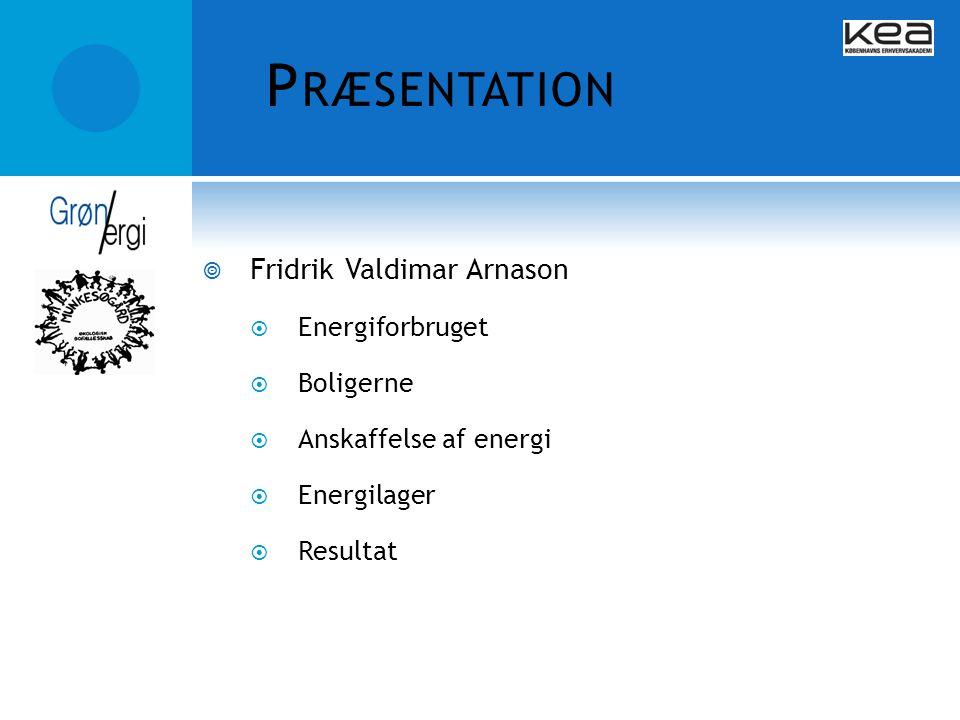 Præsentation Fridrik Valdimar Arnason Energiforbruget Boligerne