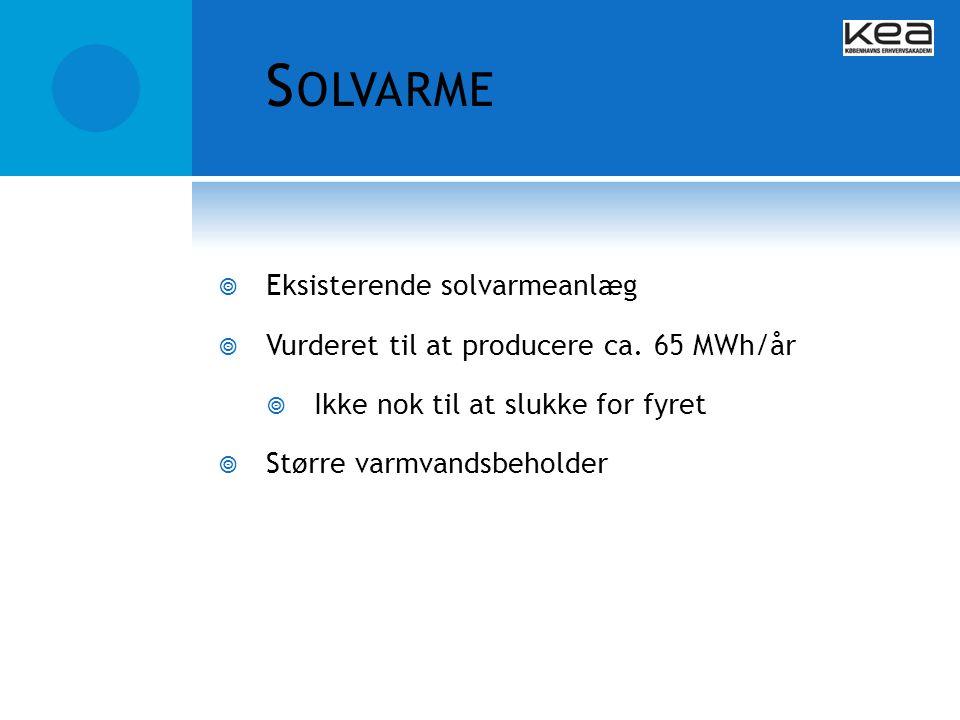 Solvarme Eksisterende solvarmeanlæg