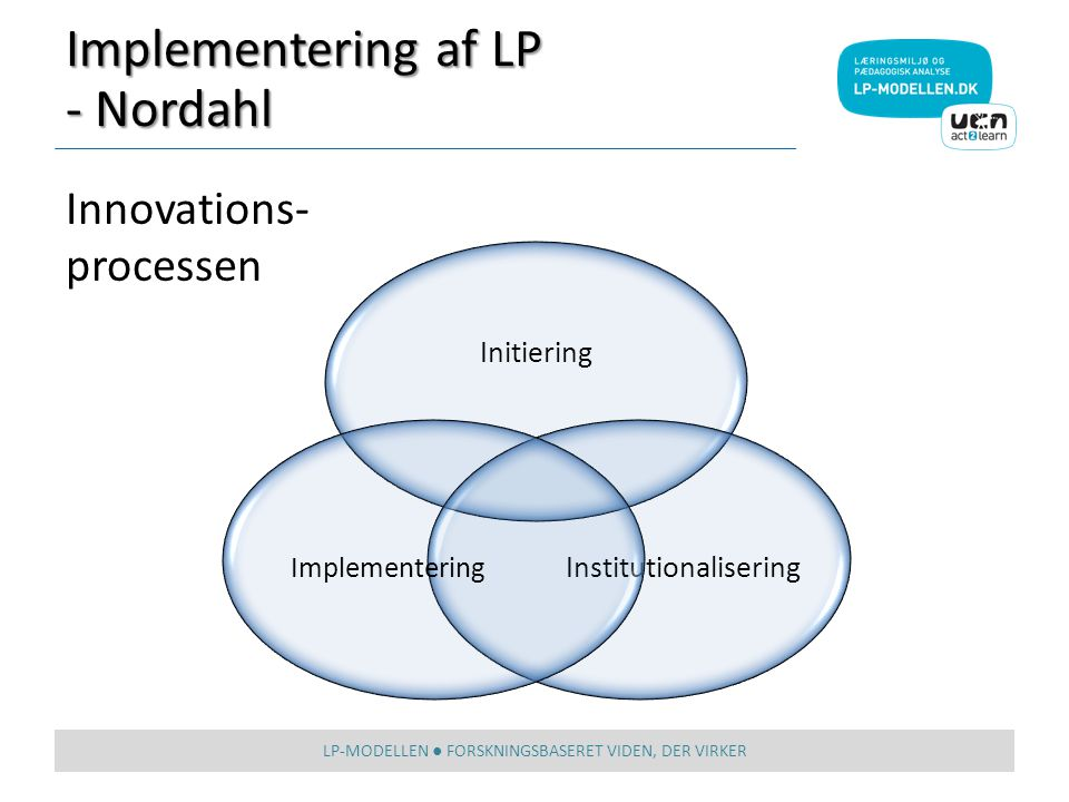 Implementering af LP - Nordahl Innovations-processen Initiering
