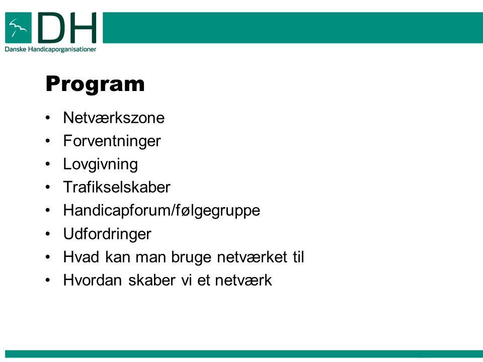 Program Netværkszone Forventninger Lovgivning Trafikselskaber
