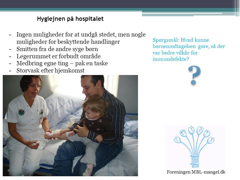 Hygiejnen på hospitalet
