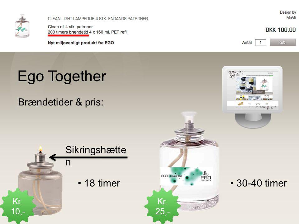 Konkurrent Ego Together Brændetider & pris: Sikringshætten 18 timer