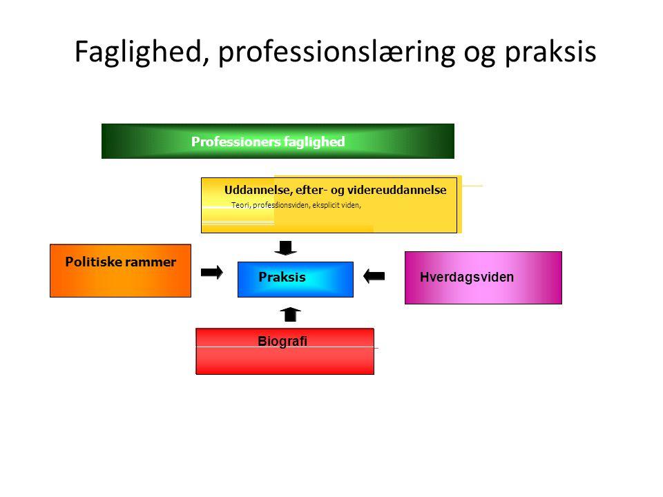 Faglighed, professionslæring og praksis