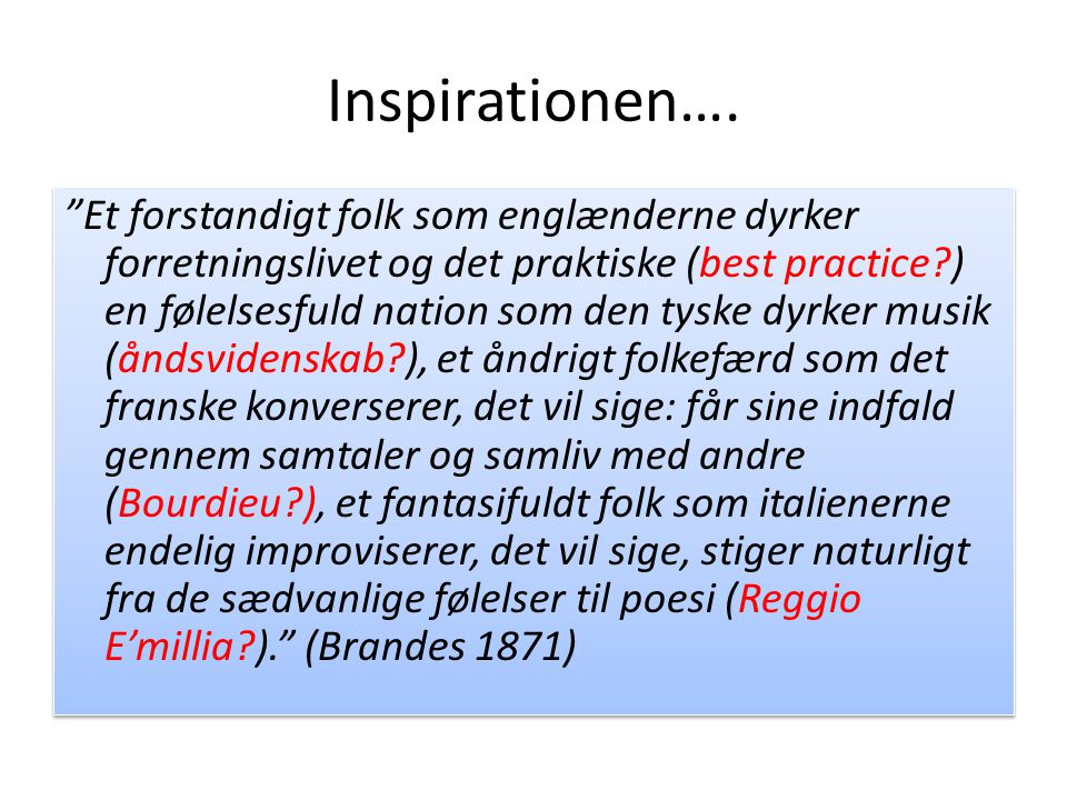 Inspirationen….