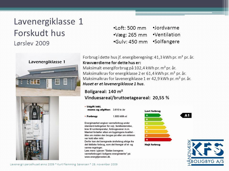 Lavenergiklasse 1 Forskudt hus Lørslev 2009