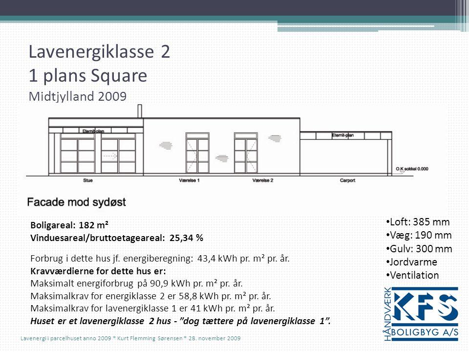 Lavenergiklasse 2 1 plans Square Midtjylland 2009