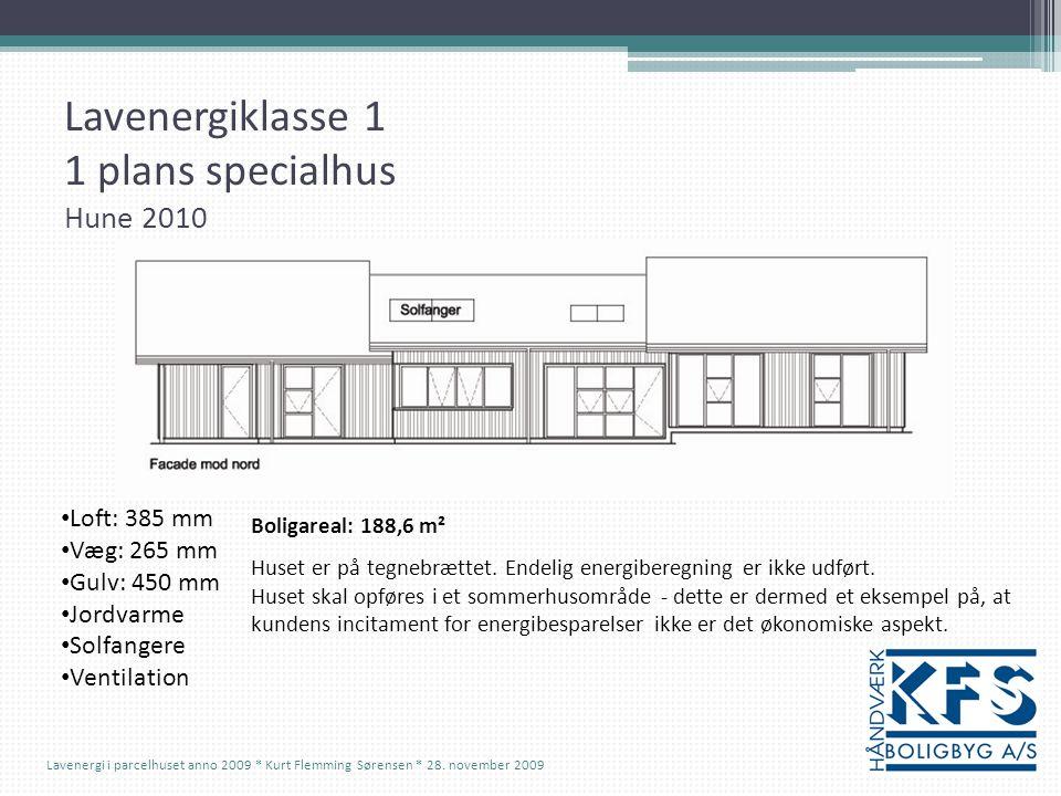 Lavenergiklasse 1 1 plans specialhus Hune 2010