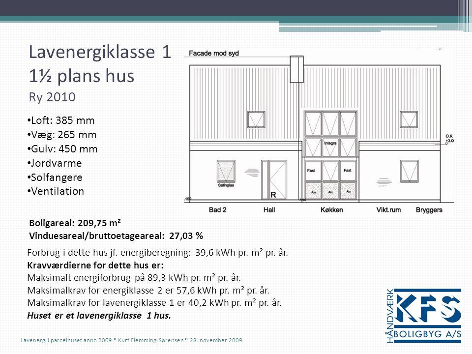 Lavenergiklasse 1 1½ plans hus Ry 2010