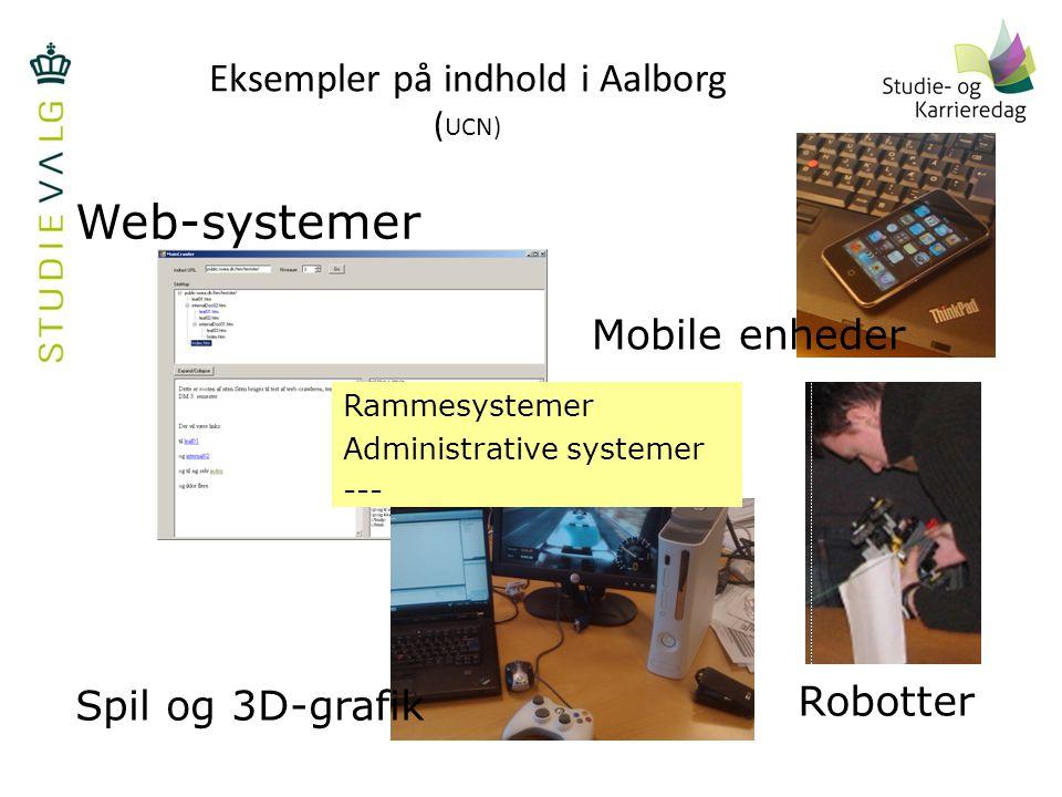 Eksempler på indhold i Aalborg (UCN)