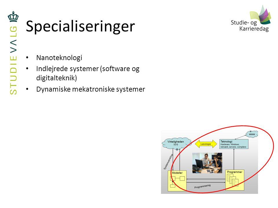 Specialiseringer Nanoteknologi