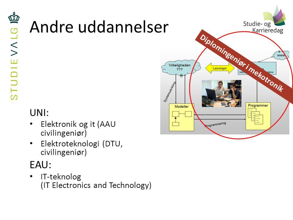 Andre uddannelser EAU: UNI: Elektronik og it (AAU civilingeniør)