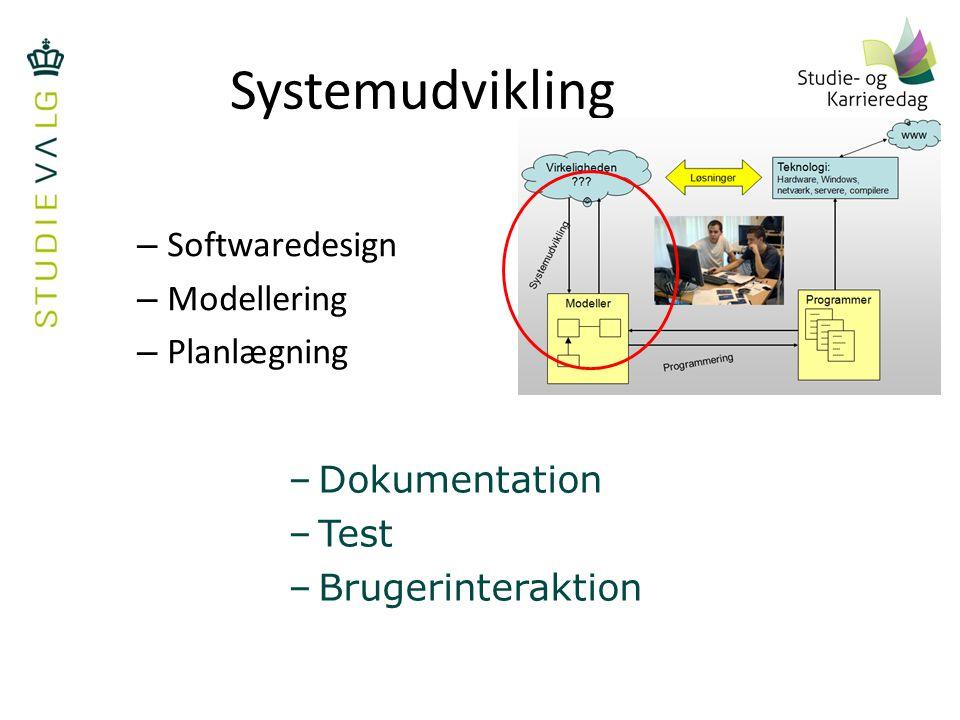 Systemudvikling Softwaredesign Modellering Planlægning Dokumentation