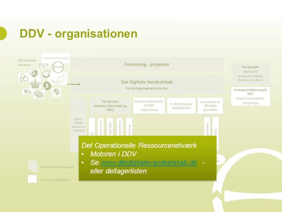 DDV - organisationen Det Operationelle Ressourcenetværk Motoren i DDV