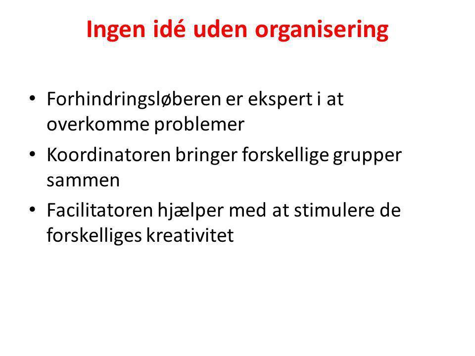 Ingen idé uden organisering