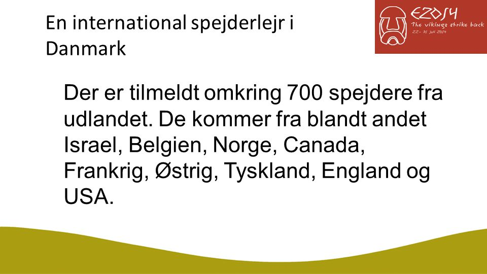 En international spejderlejr i Danmark