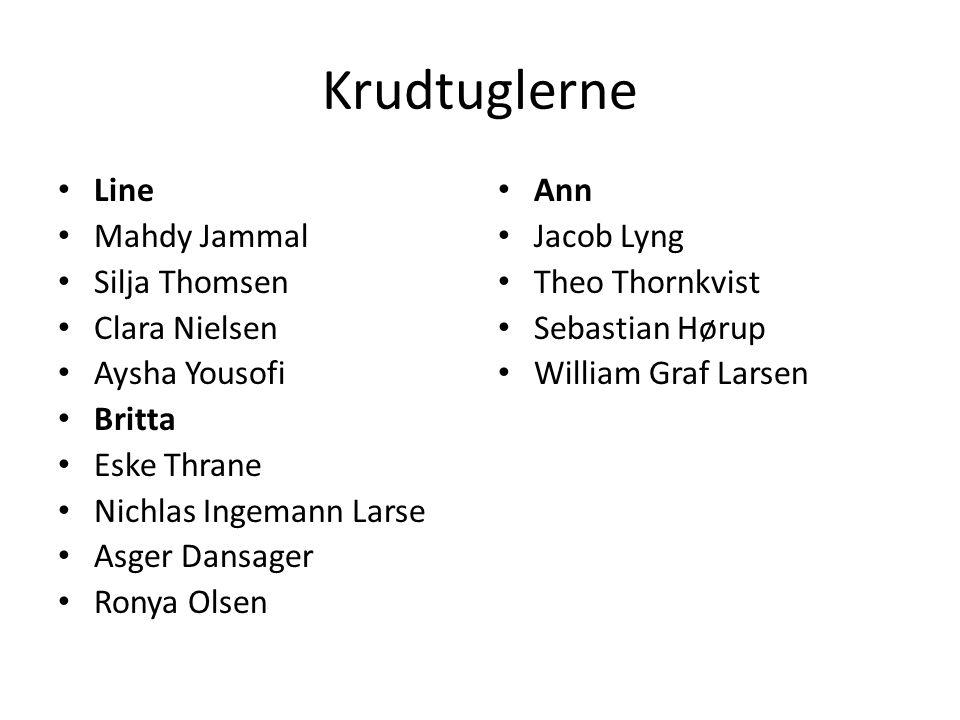 Krudtuglerne Line Mahdy Jammal Silja Thomsen Clara Nielsen