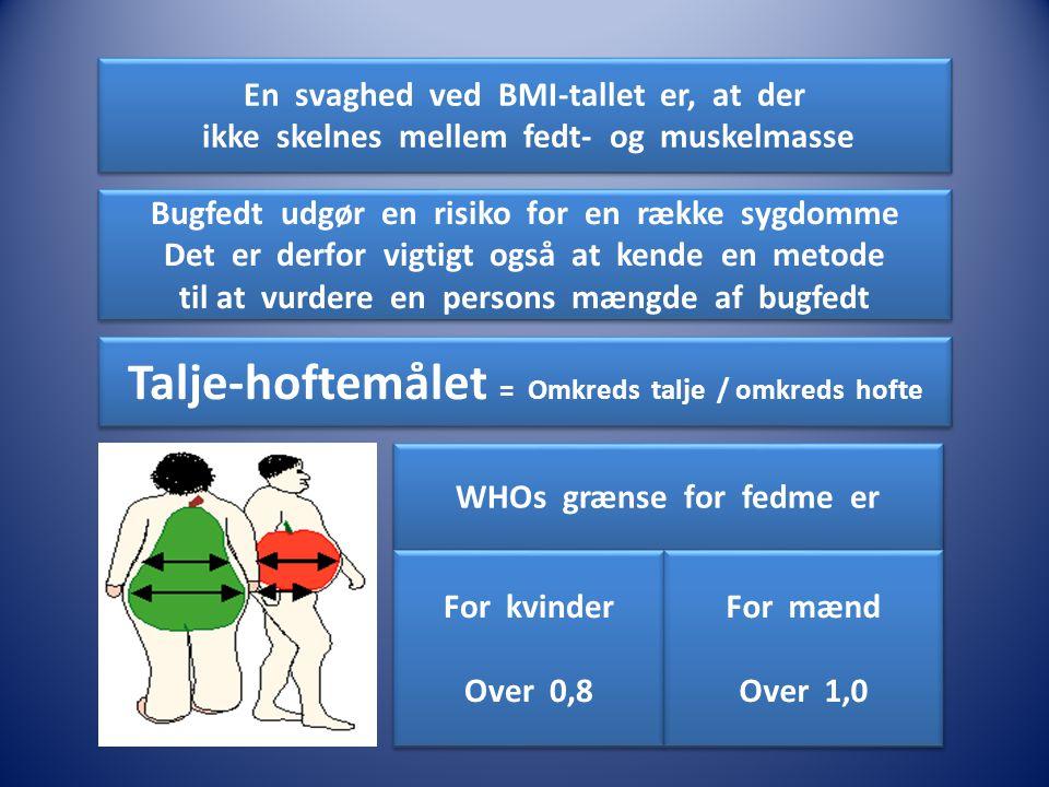 Talje-hoftemålet = Omkreds talje / omkreds hofte