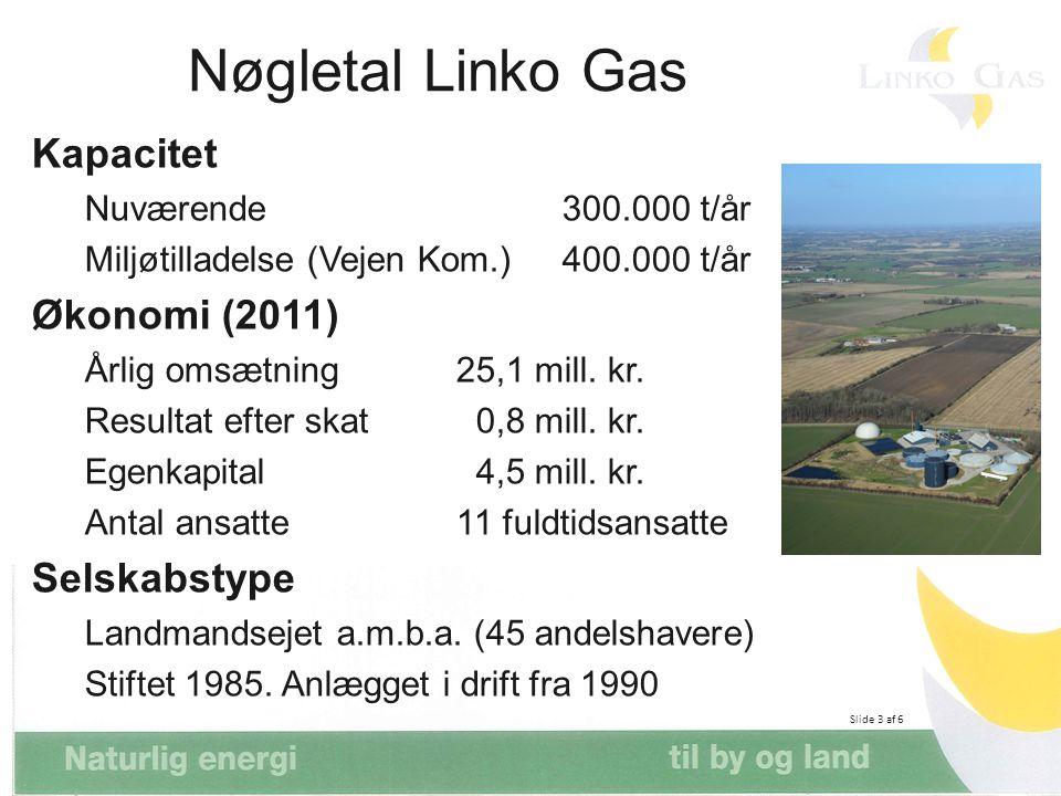 Nøgletal Linko Gas Kapacitet Økonomi (2011) Selskabstype