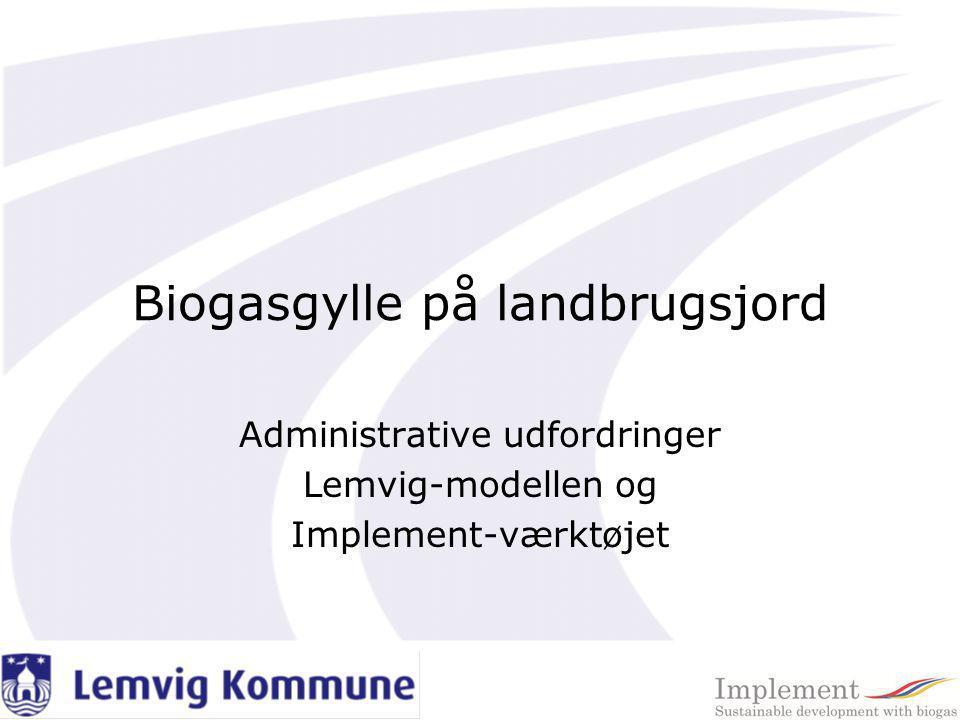 Biogasgylle på landbrugsjord
