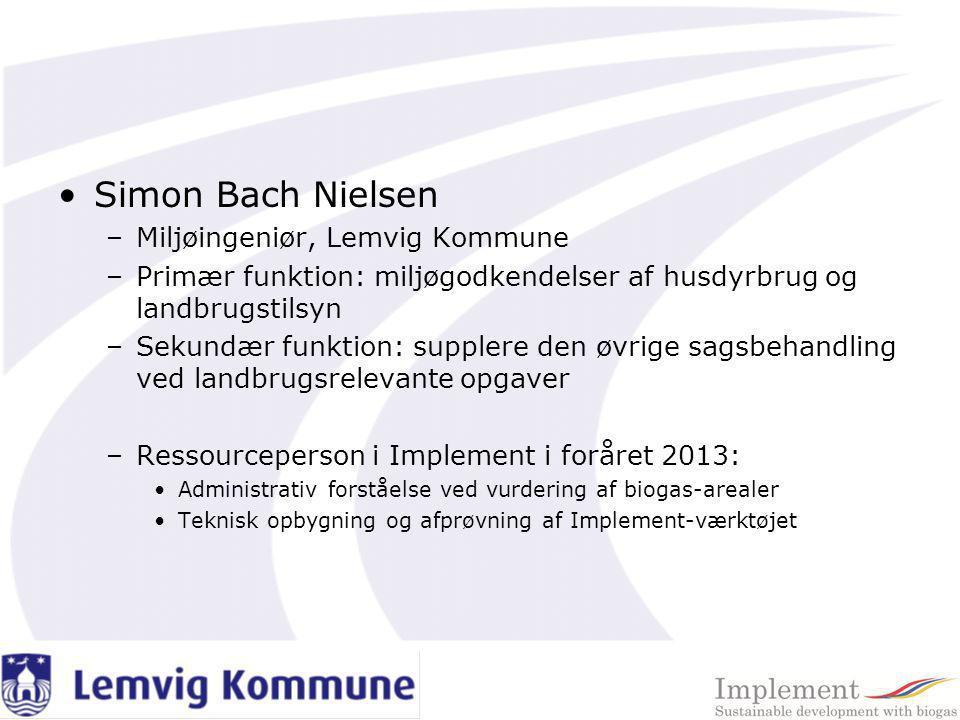 Simon Bach Nielsen Miljøingeniør, Lemvig Kommune