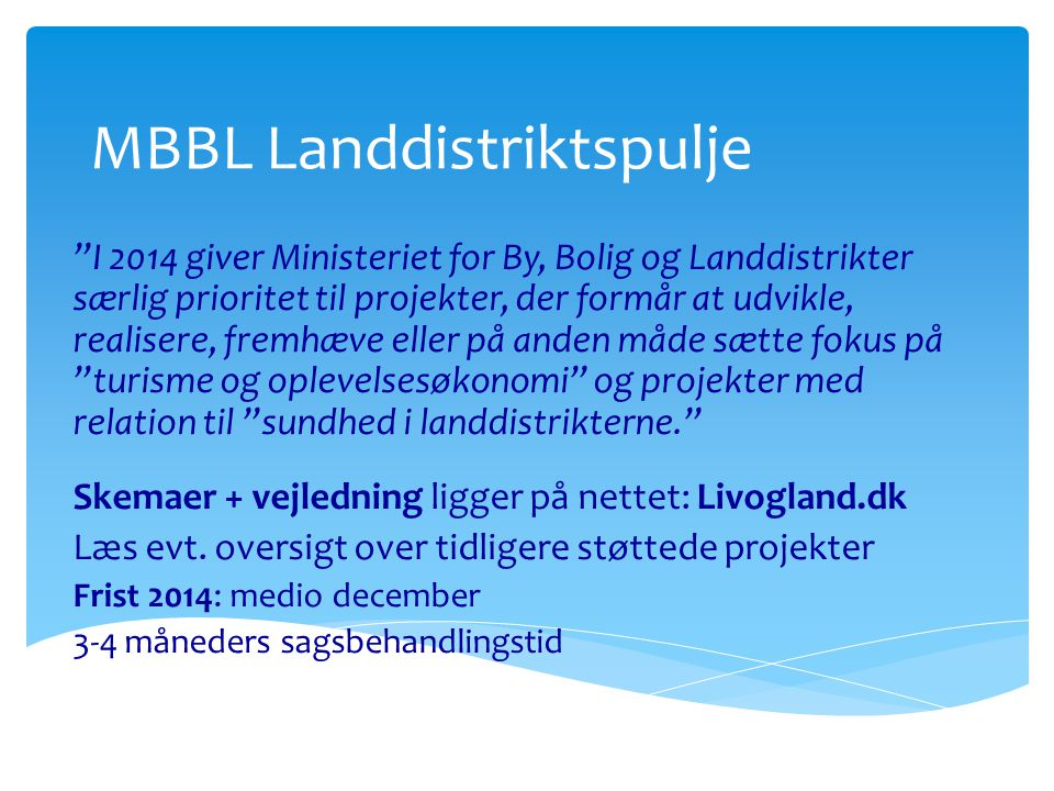 MBBL Landdistriktspulje