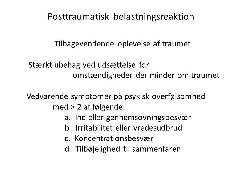 Posttraumatisk belastningsreaktion