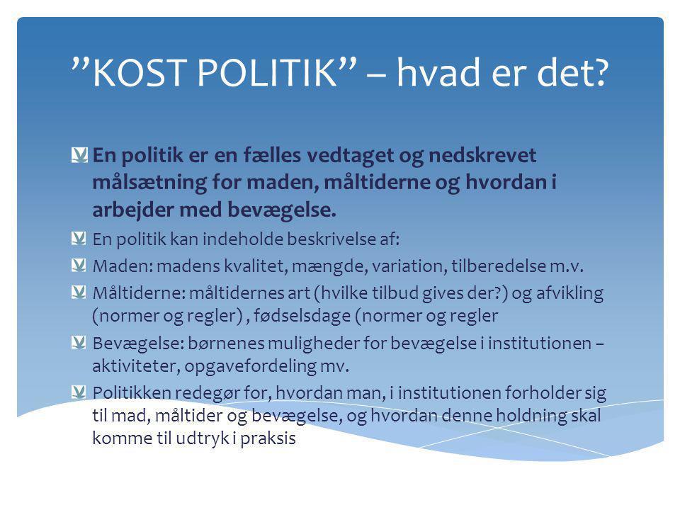 KOST POLITIK – hvad er det
