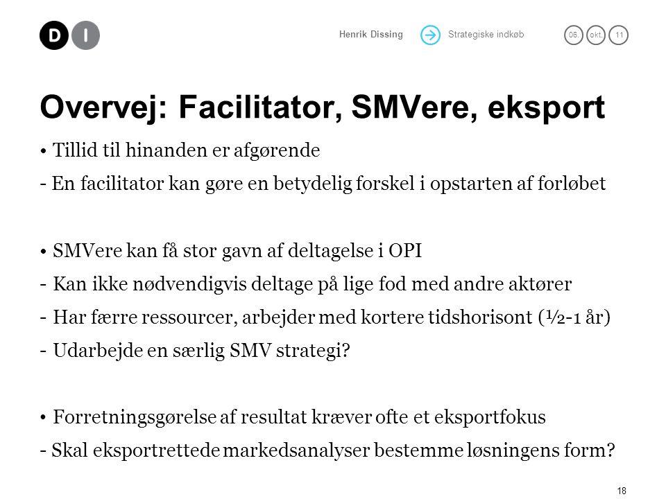 Overvej: Facilitator, SMVere, eksport