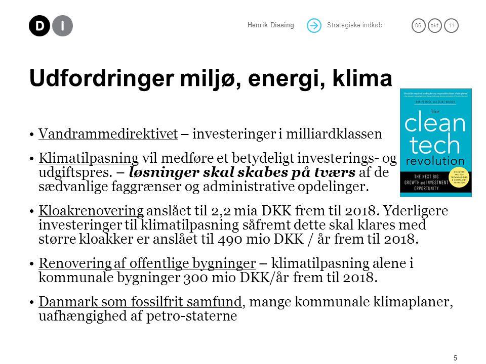 Udfordringer miljø, energi, klima