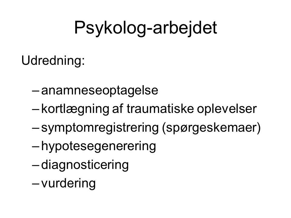 Psykolog-arbejdet Udredning: anamneseoptagelse