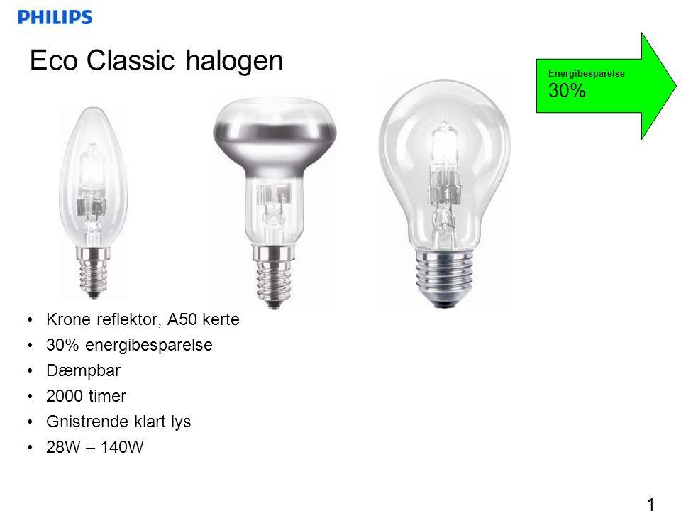 Eco Classic halogen 30% Krone reflektor, A50 kerte