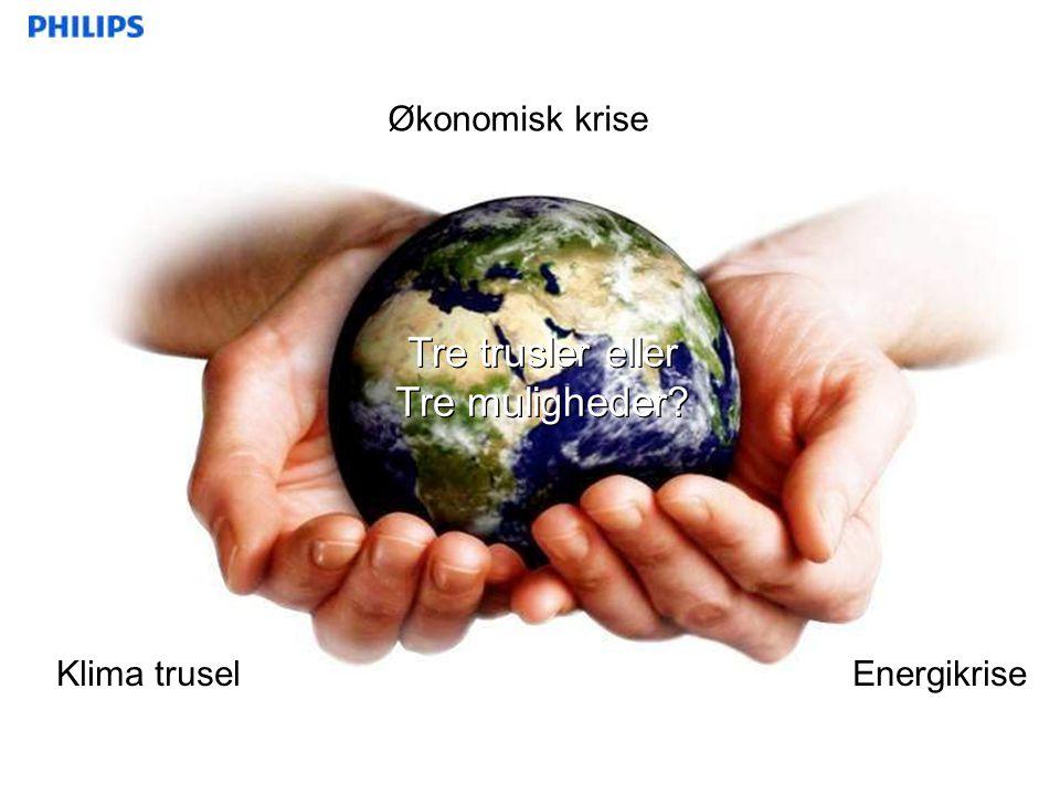 Tre trusler eller Tre muligheder Økonomisk krise Klima trusel