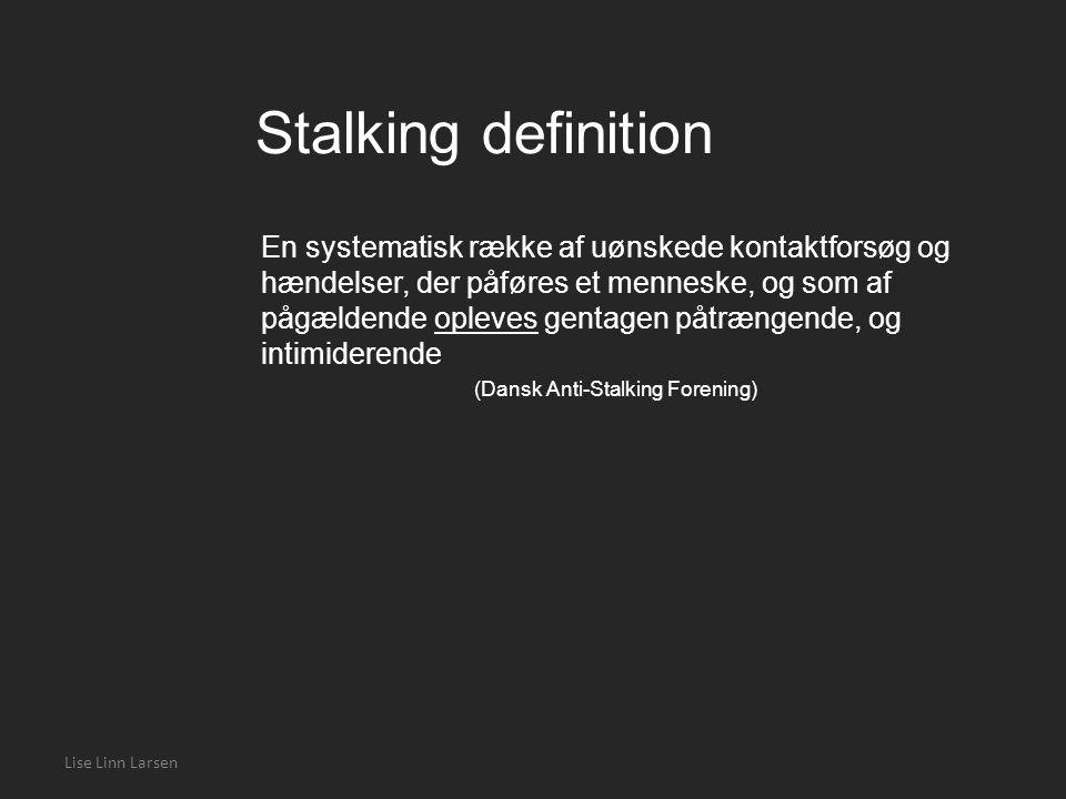 Stalking definition