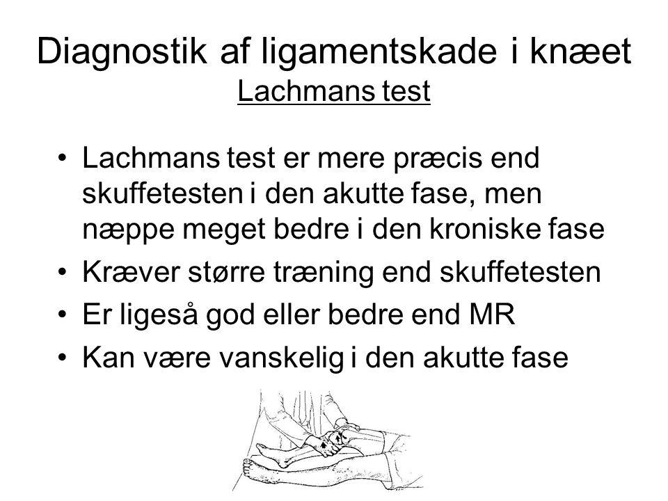 Diagnostik af ligamentskade i knæet Lachmans test