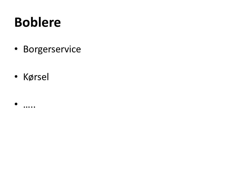 Boblere Borgerservice Kørsel …..