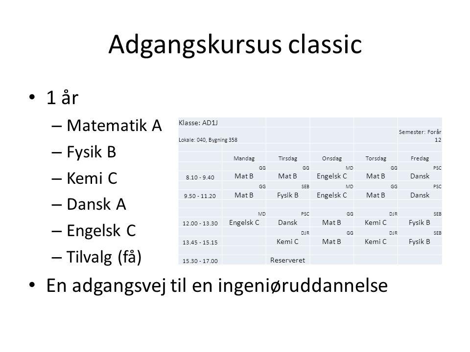 Adgangskursus classic