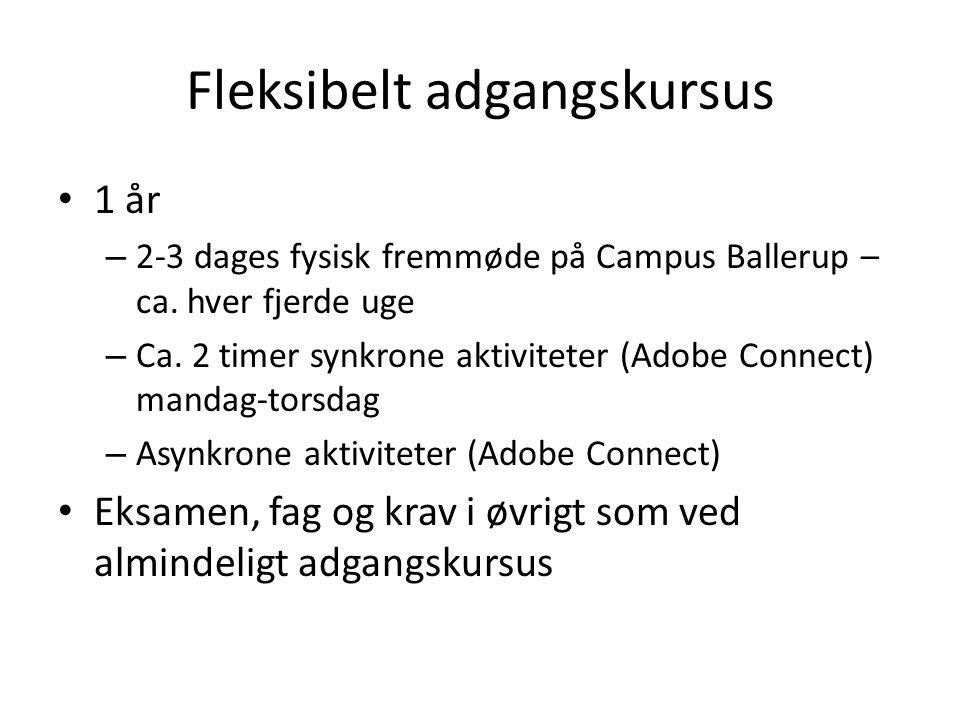Fleksibelt adgangskursus