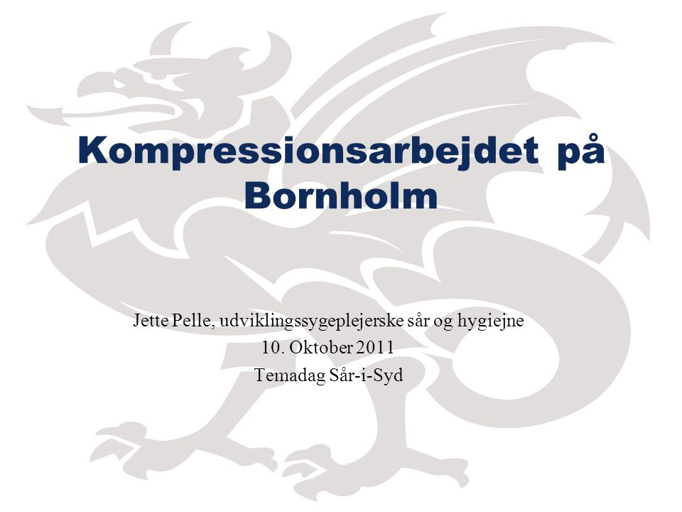 Kompressionsarbejdet på Bornholm