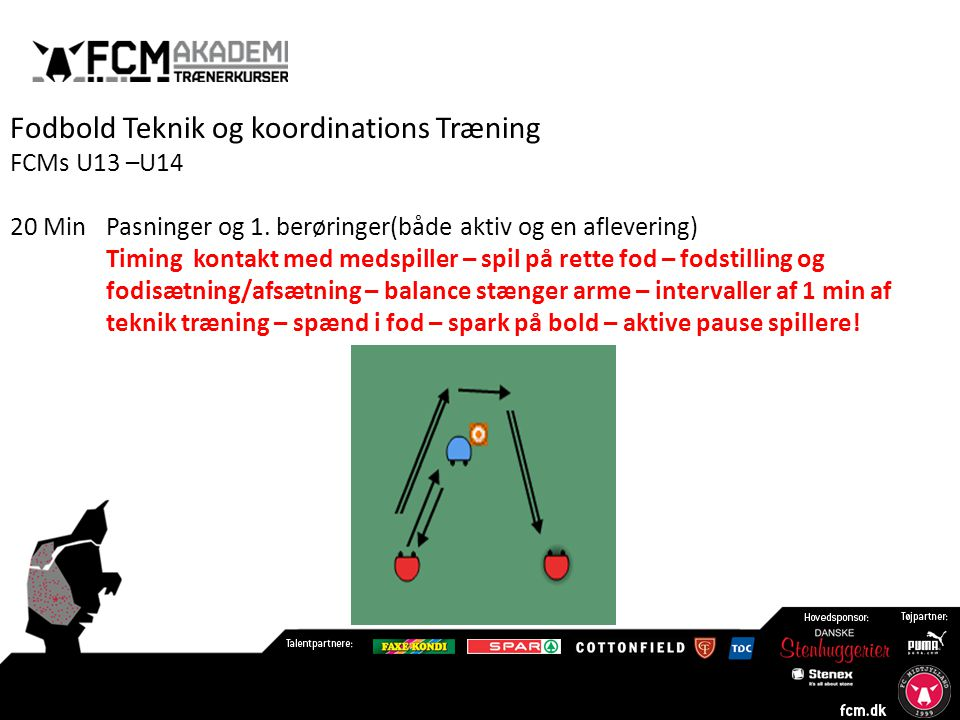Fodbold Teknik og koordinations Træning