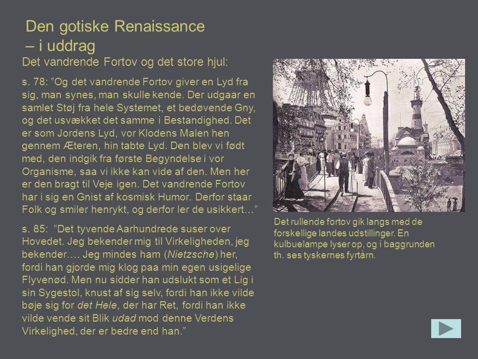 Den gotiske Renaissance – i uddrag