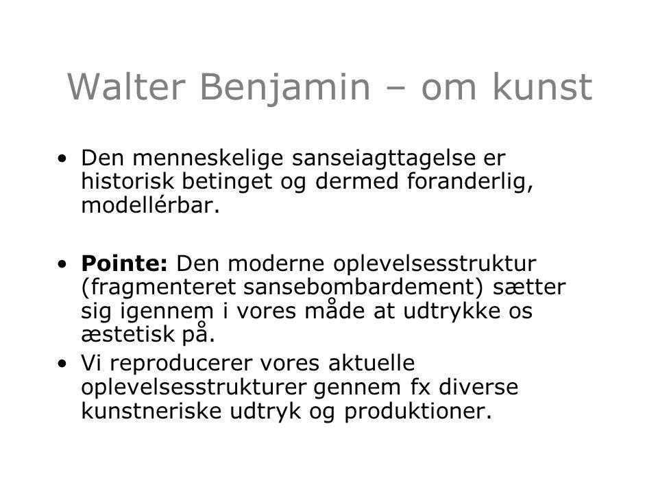 Walter Benjamin – om kunst