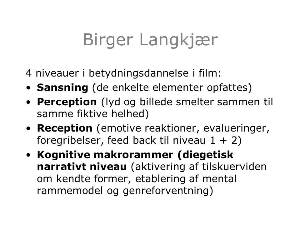 Birger Langkjær 4 niveauer i betydningsdannelse i film: