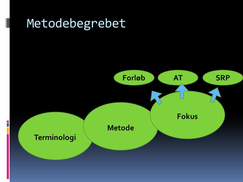 Metodebegrebet Forløb AT SRP Fokus Metode Terminologi