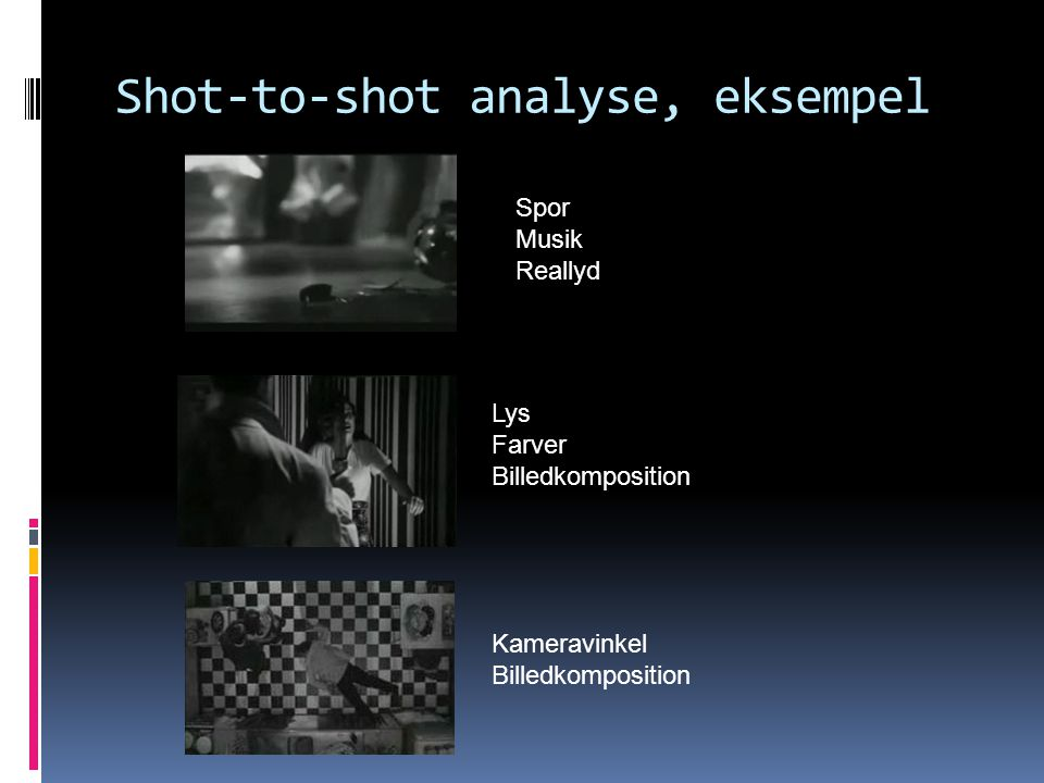 Shot-to-shot analyse, eksempel